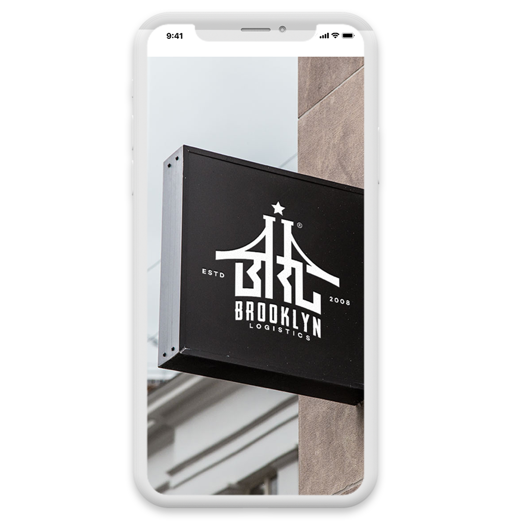 modern logo design for Brooklyn Logistics by ElectricBot NJ design company